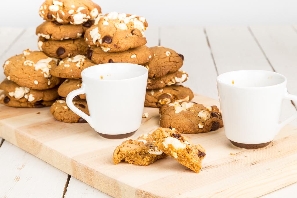 Cookies med popcorn & choklad | Foto: Michael Krantz